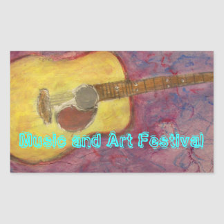 Music and Art Festival Rectangular Stickers