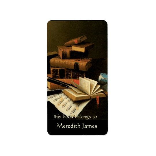 Music and Books  Bookplate Label