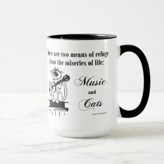 Music and Cats 2 - Schweitzer quote Mug