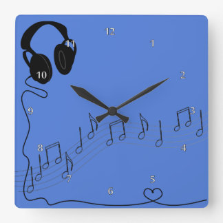 Music And Headsets Clock