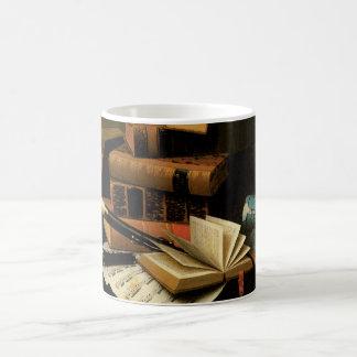 Music and Literature by William Harnett, Fine Art Coffee Mug