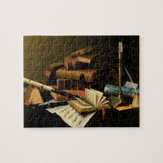 Music and Literature by William Harnett, Fine Art Jigsaw Puzzle