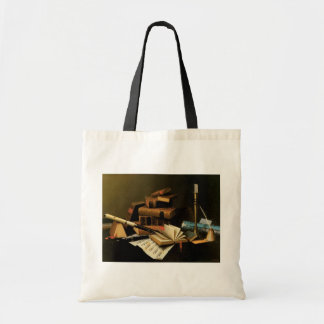 Music and Literature by William Harnett, Fine Art Tote Bag