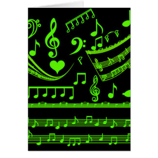 Music and me In Green_ Greeting Card