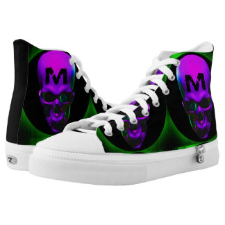 Music and Monsters custom hightop sneakers