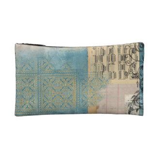 Music and Pattern Collage Makeup Bags