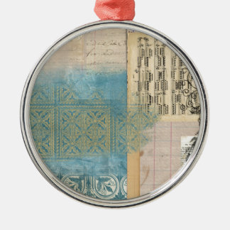 Music and Pattern Collage Ornament