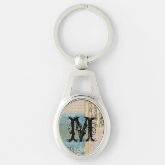 Music and Pattern Collage Key Chain