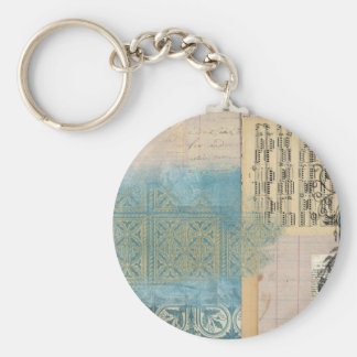 Music and Pattern Collage Keychain