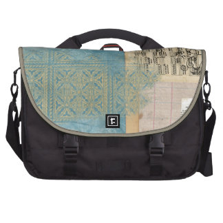 Music and Pattern Collage Laptop Bags