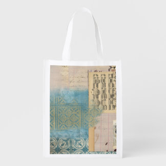 Music and Pattern Collage Market Tote