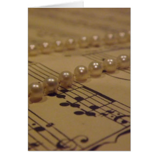 Music And Pearls Card
