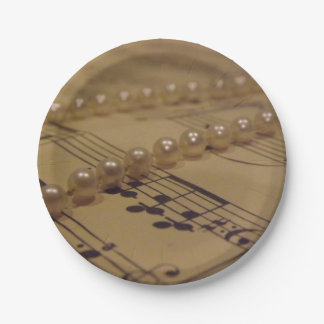 Music And Pearls Paper Plate