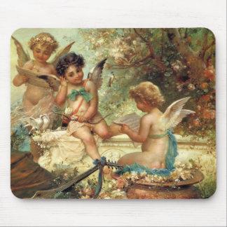 Music Angels by Hans Zatzka, Victorian Art Mousepads
