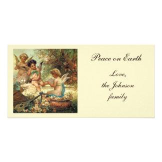 Music Angels by Hans Zatzka, Victorian Art Photo Greeting Card