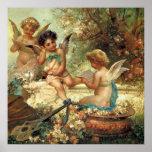 Music Angels by Hans Zatzka, Victorian Art Posters
