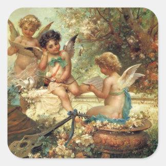 Music Angels by Hans Zatzka, Victorian Art Stickers