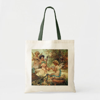 Music Angels by Hans Zatzka, Victorian Art Canvas Bag