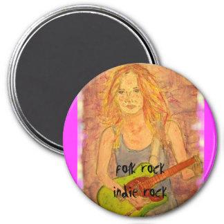 music art 7.5 cm round magnet