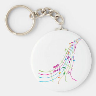 Music Art Basic Round Button Key Ring