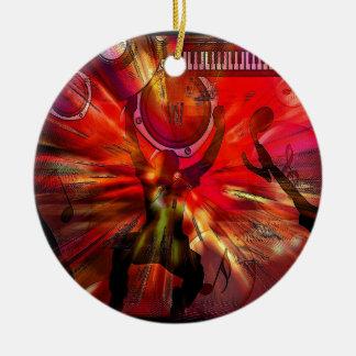 Music Art Ceramic Ornament