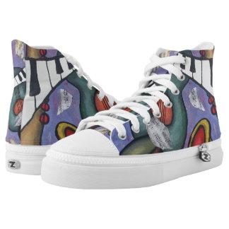 Music Art | High Top Sneakers