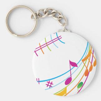 Music Art Key Chains