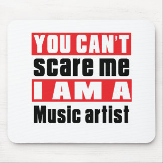 Music artist (occupation) scare designs mouse pad