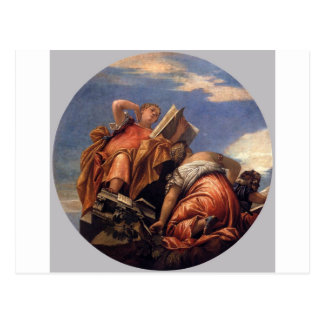 Music, Astronomy and Deceit by Paolo Veronese Postcard