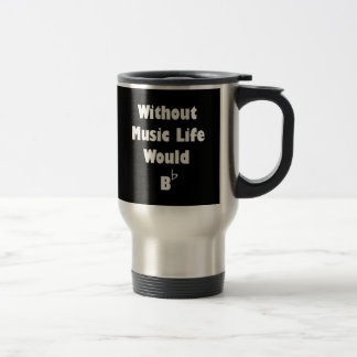 Music B Flat Stainless Steel Travel Mug