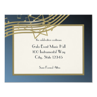 Music Bar Mitzvah Reception Card