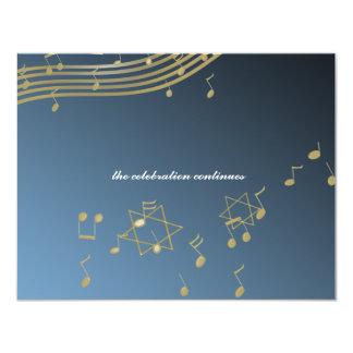 Music Bar Mitzvah/ Reception Card 11 Cm X 14 Cm Invitation Card