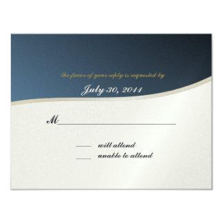 Music Bar Mitzvah/ Response Card 11 Cm X 14 Cm Invitation Card