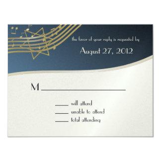 Music Bar Mitzvah Response Card 11 Cm X 14 Cm Invitation Card