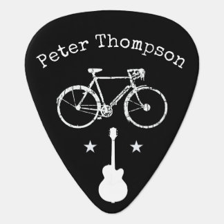 music & bicycle,  personalized black plectrum