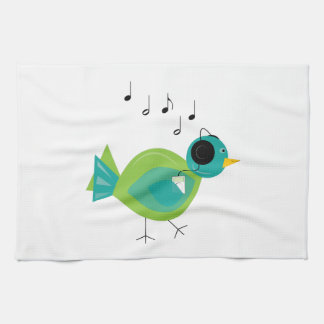 Music Bird Hand Towel