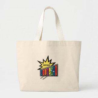 music blast x large tote bag
