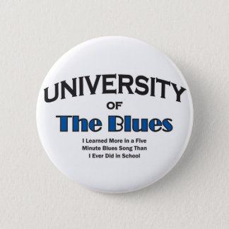 music-blues 6 cm round badge
