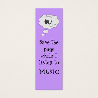 music bookmark mini business card