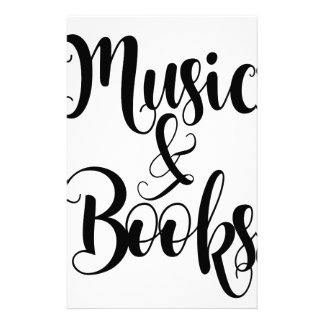 music & books quote typography script gift trendy stationery