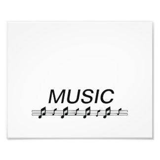 Music bottom with staff at bottom art photo