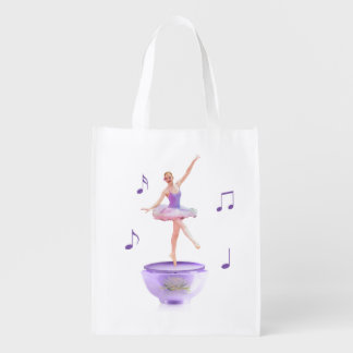 Music Box Ballerina Customizable Reusable Grocery Bag