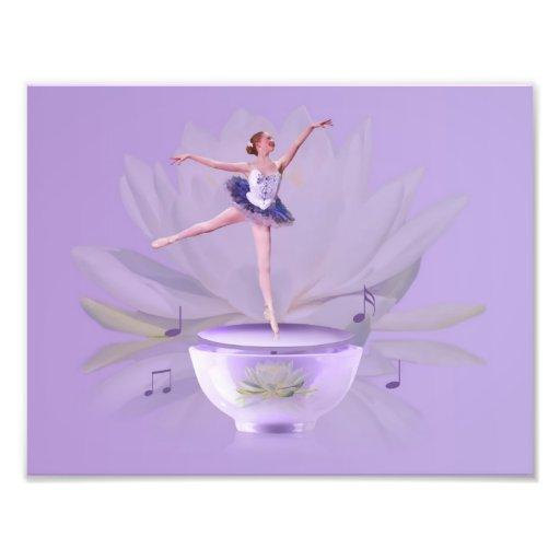 Music Box Ballerina with Water Lily Photo Art
