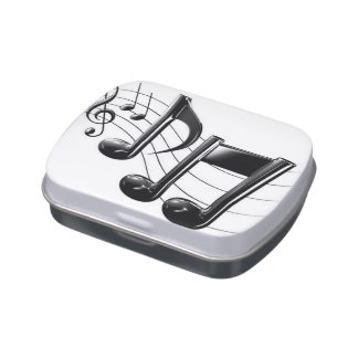 Music Box Jelly Belly Candy Tin