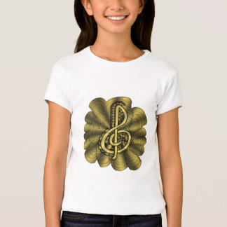 Music Brilliant Gold Original Art Treble Clef Shirt