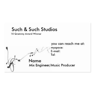Music Business Card