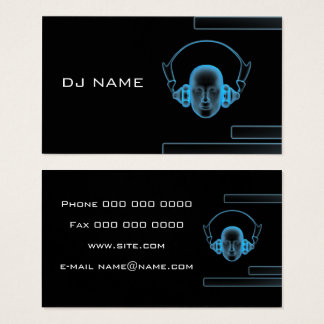 music business card DJ