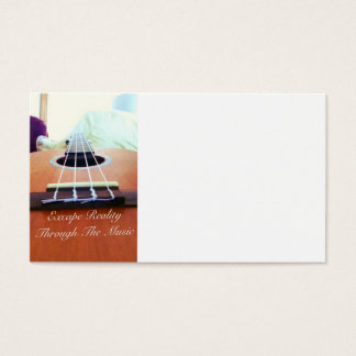 Music Business Card. (Ukulele Logo) Business Card