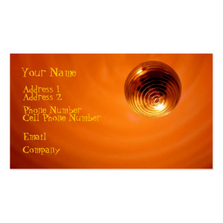 Music Business Cards - Orange Disco Ball