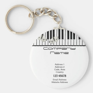Music Business Theme Basic Round Button Key Ring